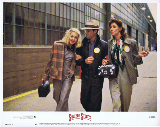 SWING SHIFT Goldie Hawn Kurt Russell Vintage Lobby Card 4