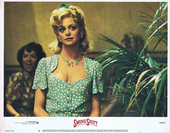 SWING SHIFT Goldie Hawn Kurt Russell Vintage Lobby Card 5