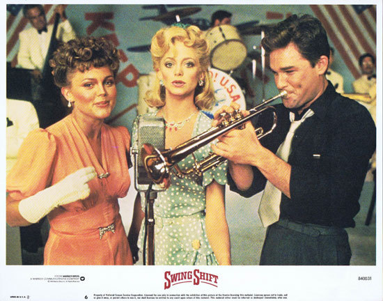 SWING SHIFT Goldie Hawn Kurt Russell Vintage Lobby Card 6