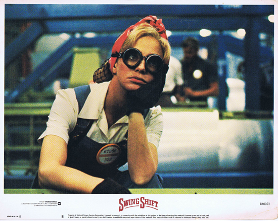 SWING SHIFT Goldie Hawn Kurt Russell Vintage Lobby Card 8