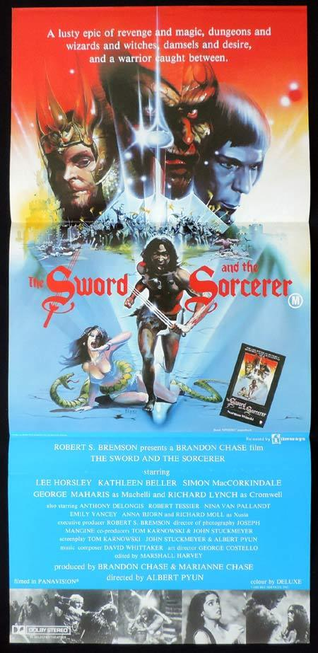 THE SWORD AND THE SORCERER Original Daybill Movie Poster Lee Horsley Kathleen Beller