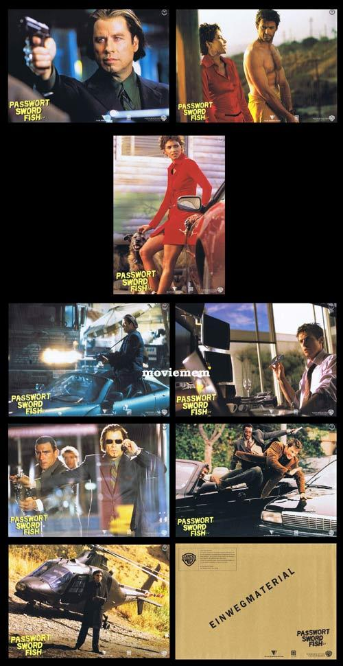 SWORDFISH Original German Lobby Card Set Hugh Jackman John Travolta