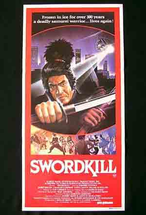 SWORDKILL aka GHOST WARRIOR '86-Samurai daybill