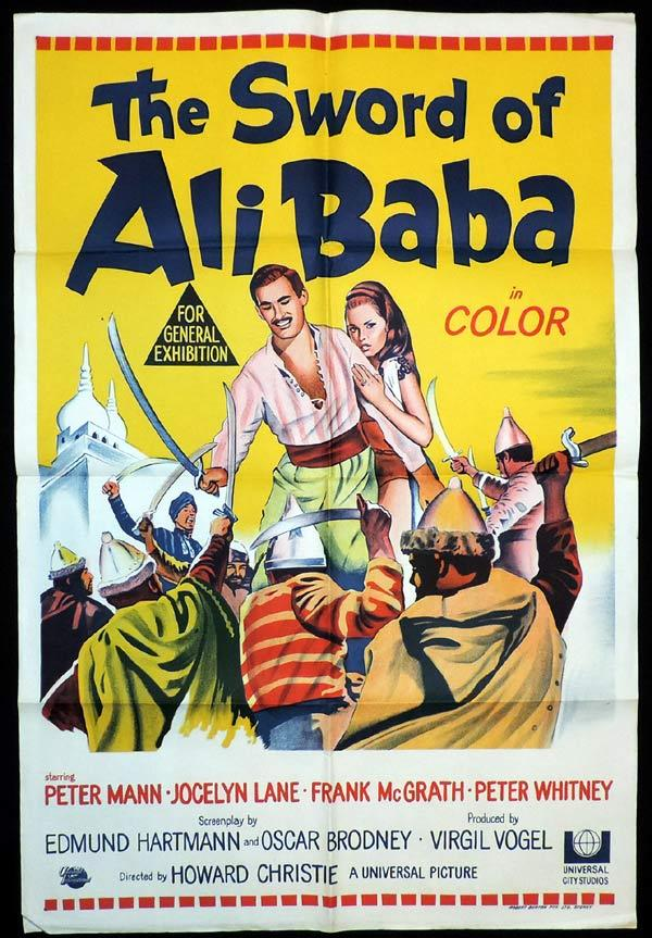 THE SWORD OF ALI BABA Original One sheet Movie Poster Peter Mann