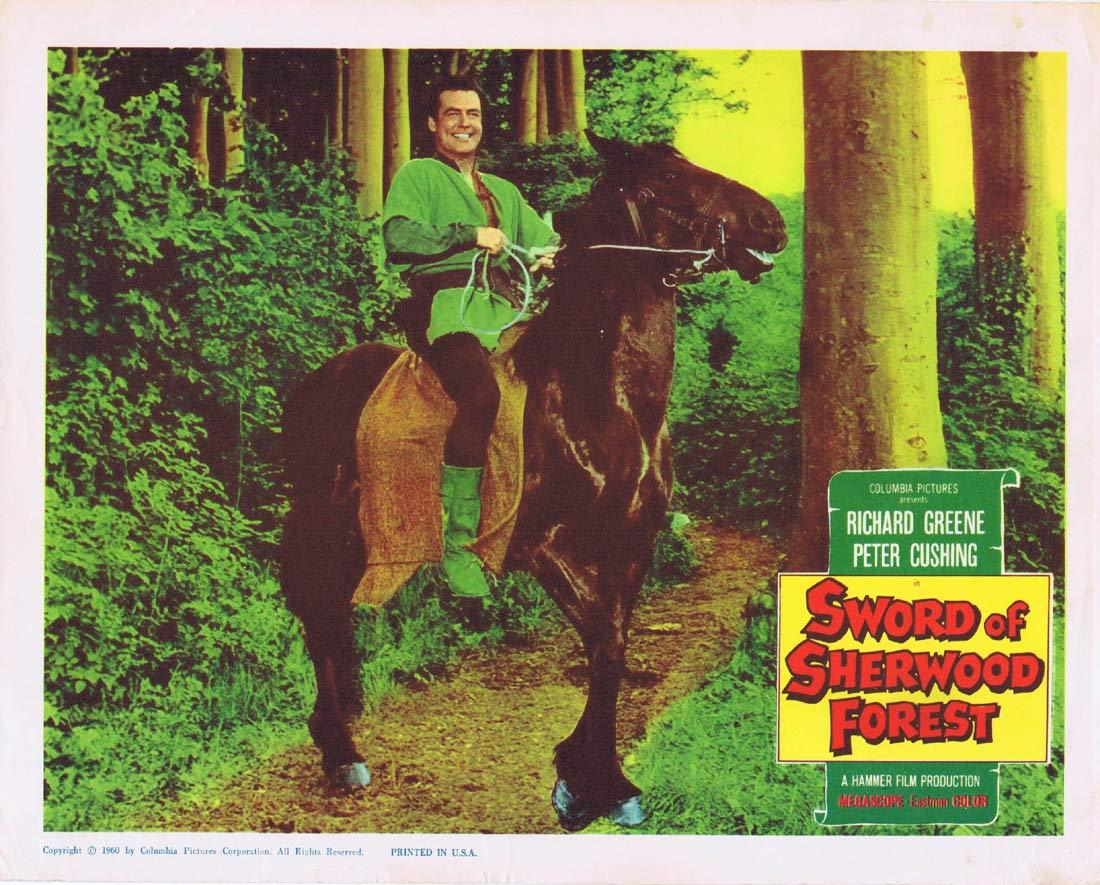 SWORD OF SHERWOOD FOREST Lobby Card Richard Greene Peter Cushing Robin Hood