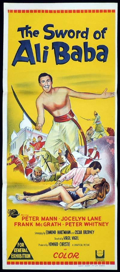 THE SWORD OF ALI BABA Original Daybill Movie Poster Peter Mann