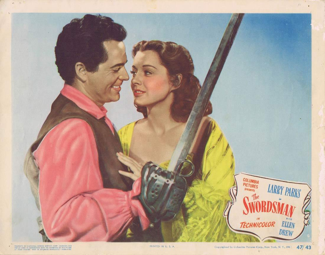 THE SWORDSMAN Lobby Card 6 Larry Parks Ellen Drew Swashbuckler