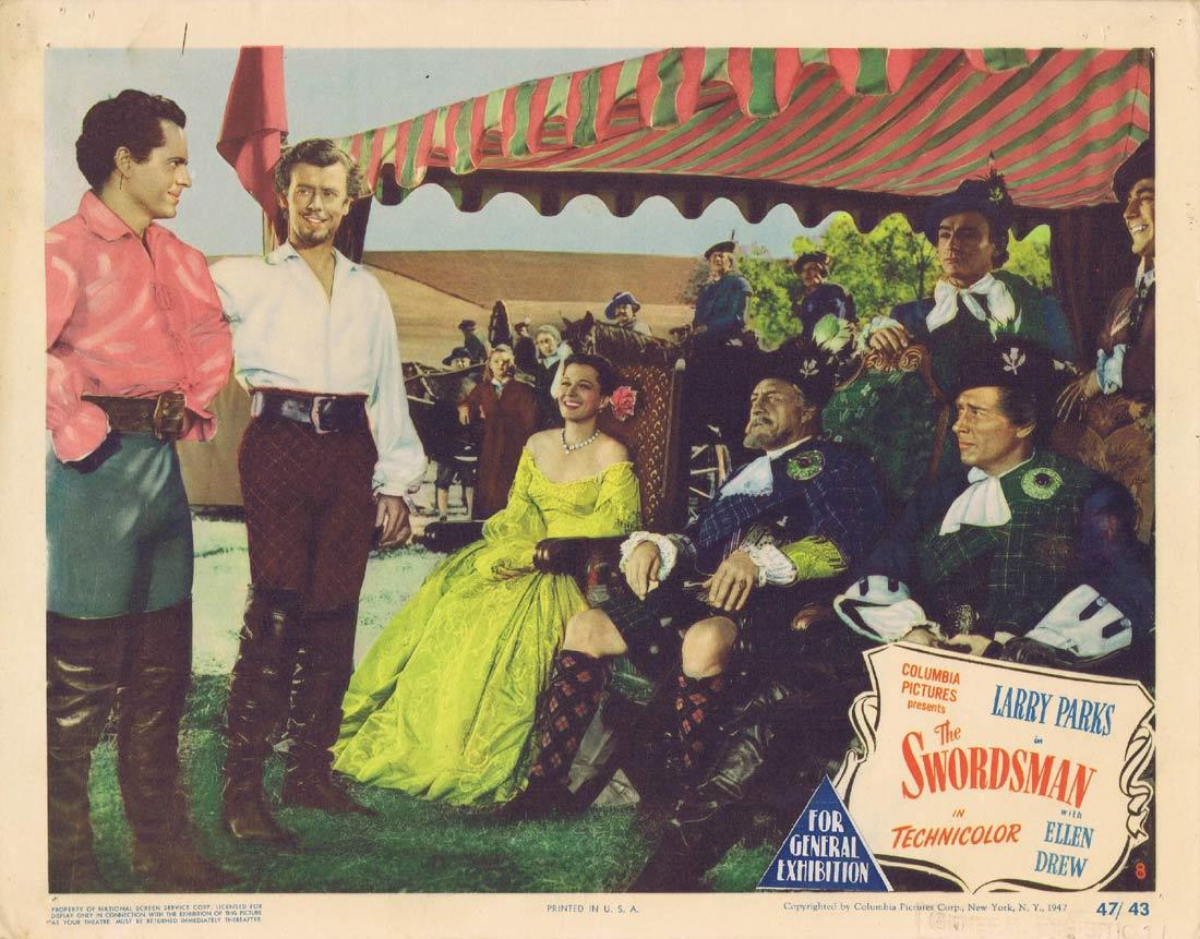 THE SWORDSMAN Lobby Card 8 Larry Parks Ellen Drew Swashbuckler