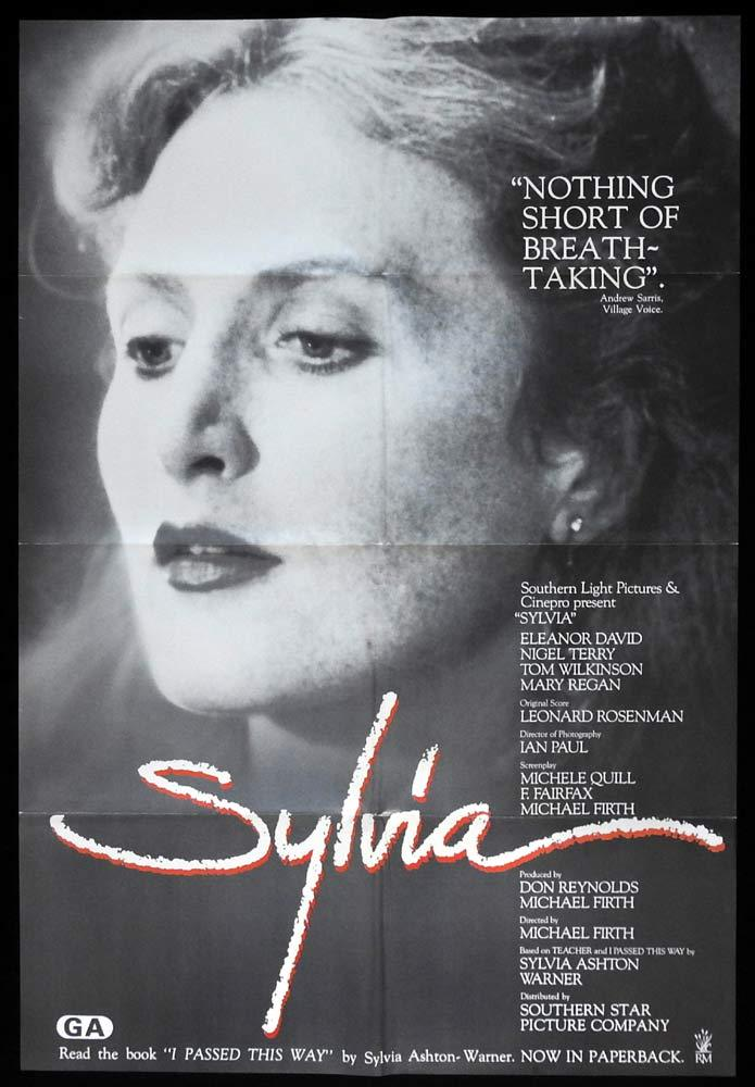 SYLVIA Original New Zealand Movie poster Michael Firth