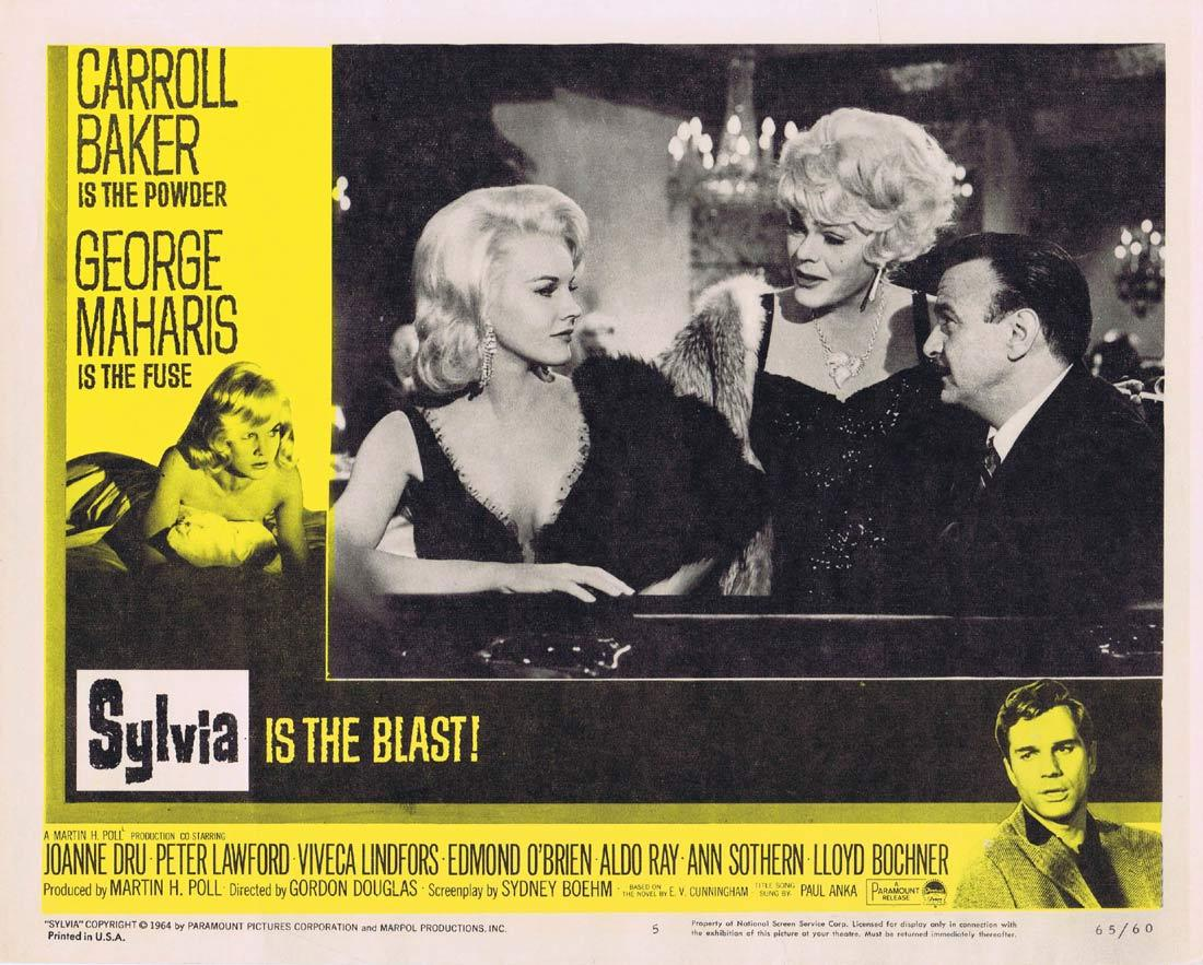 SYLVIA Lobby Card 5 Carroll Baker George Maharis Peter Lawford