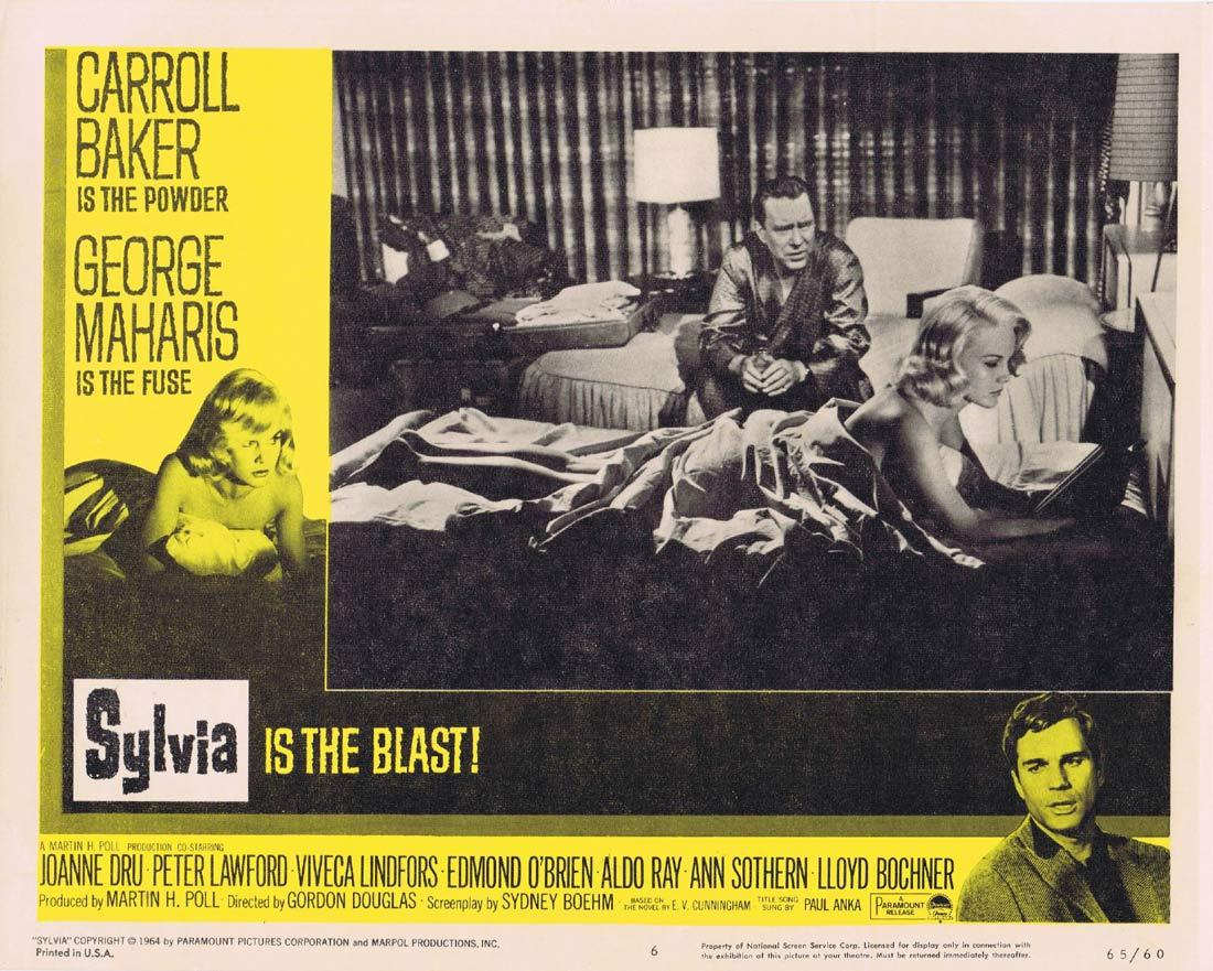 SYLVIA Lobby Card 6 Carroll Baker George Maharis Peter Lawford