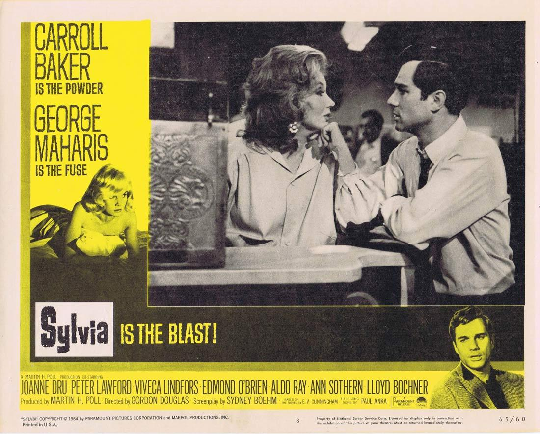 SYLVIA Lobby Card 8 Carroll Baker George Maharis Peter Lawford