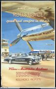 TAA Viscount Rolls Royce Engines Vintage AirlineTravel Poster c.1950s