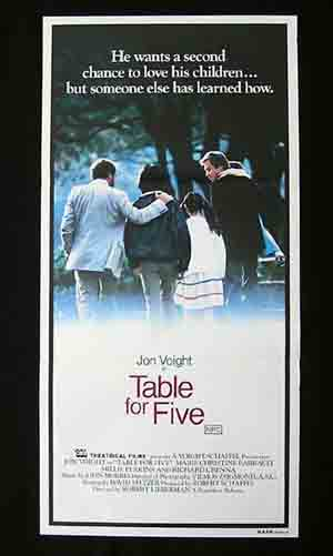 TABLE FOR FIVE '83-Jon Voight-Richard Crenna daybill