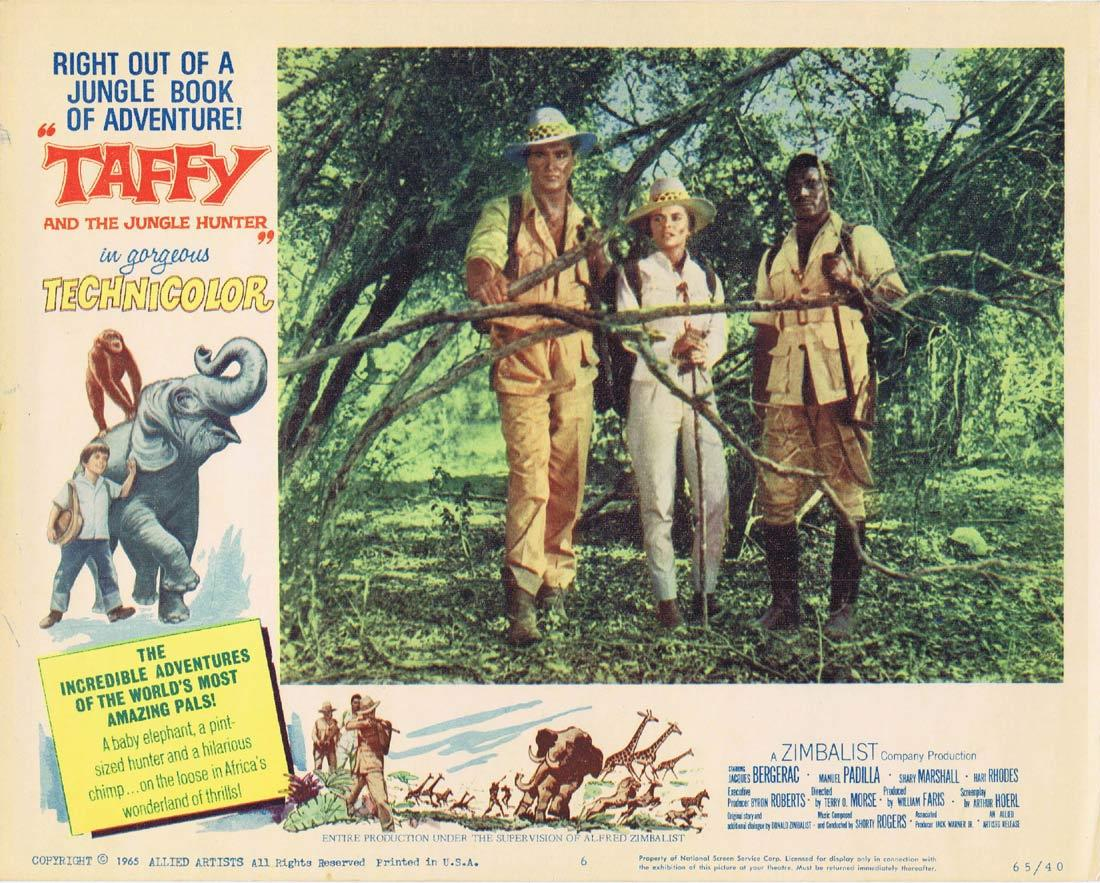TAFFY AND THE JUNGLE HUNTER Lobby Card 6 Baby Elephant Jacques Bergerac