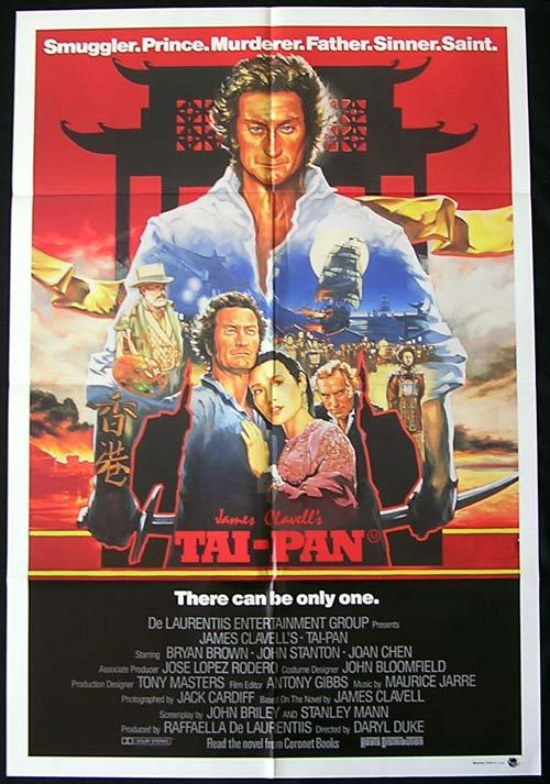 TAI PAN Movie poster James Clavell Bryan Brown Australian One Sheet