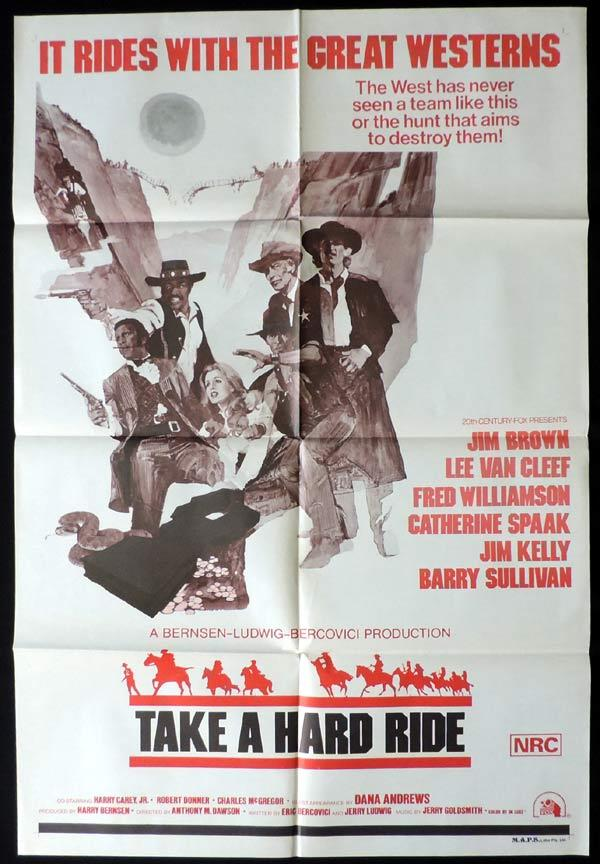 TAKE A HARD RIDE One Sheet Movie Poster Lee Van Cleef Western