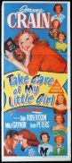 TAKE CARE OF MY LITTLE GIRL Original Daybill Movie Poster Jeanne Crain