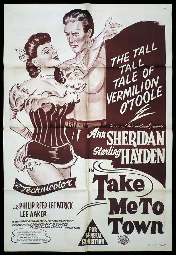 TAKE ME TO TOWN One Sheet Movie Poster Ann Sheridan