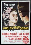 TAKE THE HIGH GROUND Original One sheet Movie Poster Richard Widmark Karl Malden