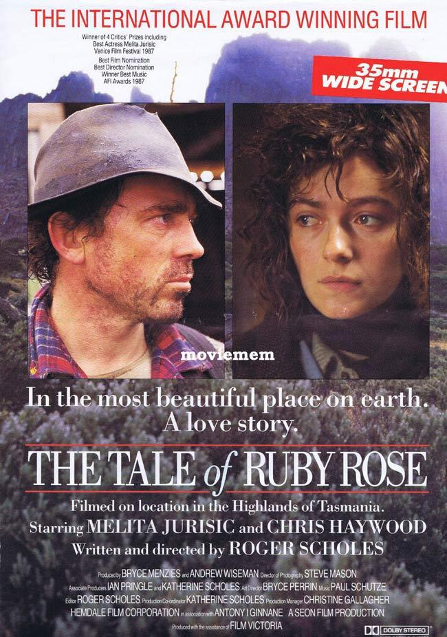 THE TALE OF RUBY ROSE Daybill Movie Poster Roger Scholes Australian Film Tasmania