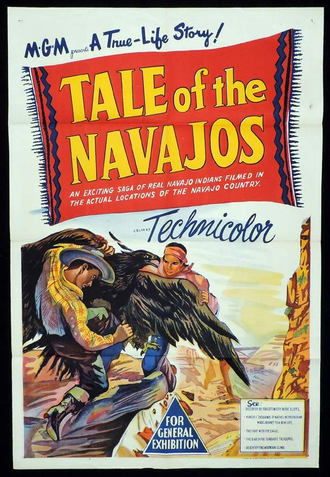TALE OF THE NAVAJOS Original One sheet Movie Poster Harry Chandlee John Haeseler Documentary