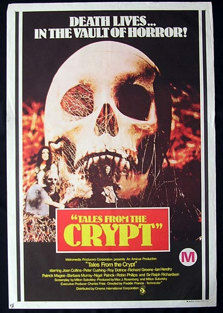 TALES FROM THE CRYPT Original One sheet poster Peter Cushing RARE