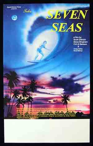 TALES OF THE SEVEN SEAS 1981 Scott Dittrich SURFING Movie poster