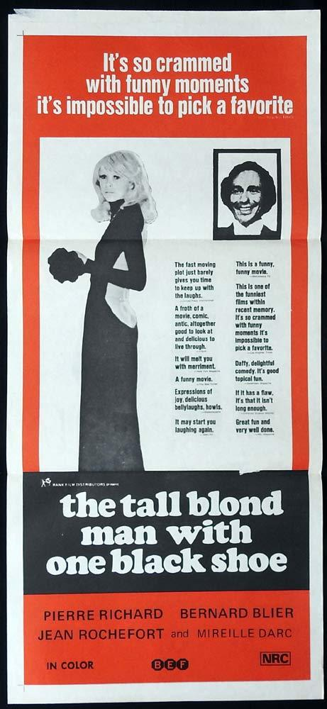 THE TALL BLOND MAN WITH ONE BLACK SHOE Rare Original Daybill Movie Poster