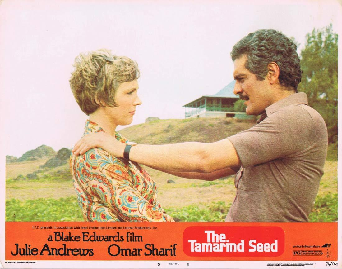 THE TAMARIND SEED Original Lobby Card 5 Julie Andrews Omar Sharif