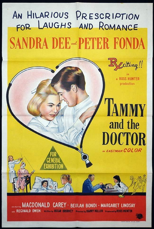 TAMMY AND THE DOCTOR Original One sheet Movie poster Sandra Dee Peter Fonda