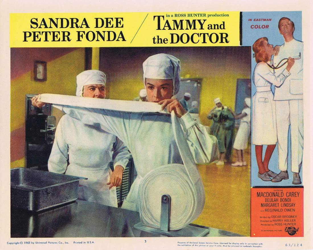 TAMMY AND THE DOCTOR Lobby Card 3  Sandra Dee Peter Fonda Macdonald Carey