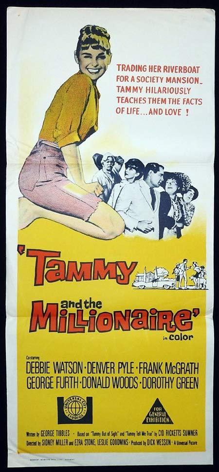 TAMMY AND THE MILLIONAIRE Debbie Watson daybill Movie Poster