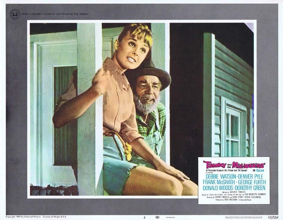 TAMMY AND THE MILLIONAIRE Lobby Card 2 Debbie Watson Frank McGrath Denver Pyle