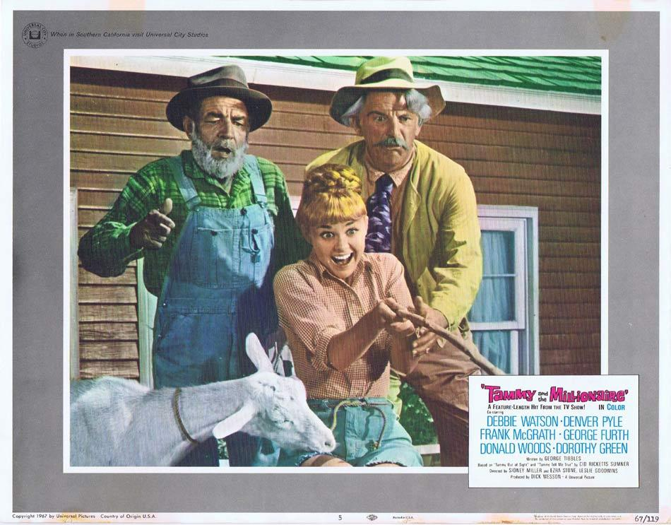 TAMMY AND THE MILLIONAIRE Lobby Card 5 Debbie Watson Frank McGrath Denver Pyle