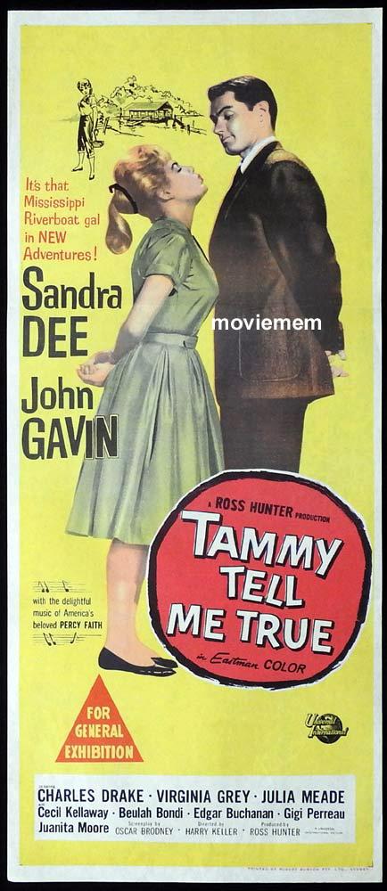 TAMMY TELL ME TRUE Original Daybill Movie Poster Sandra Dee John Gavin