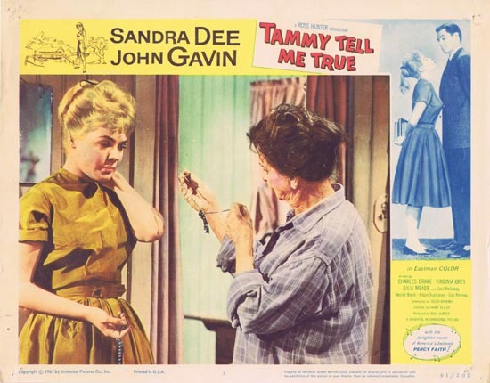 TAMMY TELL ME TRUE 1961 Sandra Dee Lobby Card 3