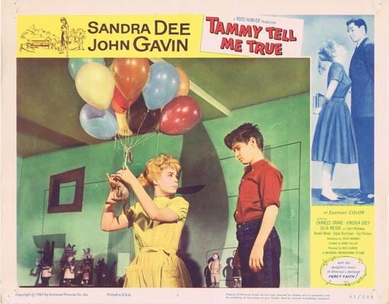 TAMMY TELL ME TRUE 1961 Sandra Dee Lobby Card 4 Balloons