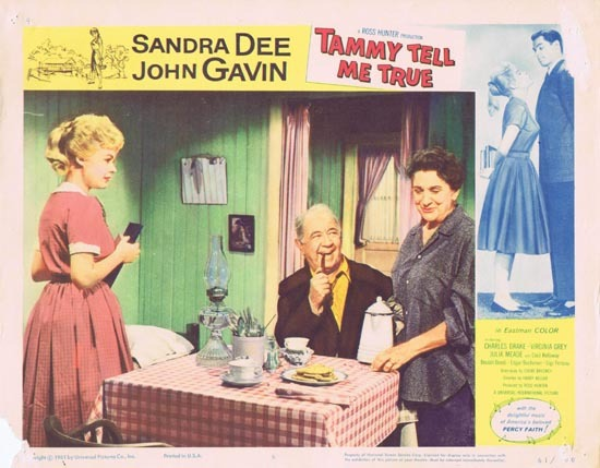 TAMMY TELL ME TRUE 1961 Sandra Dee Lobby Card 6 Cecil Kellaway