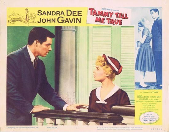 TAMMY TELL ME TRUE 1961 Sandra Dee Lobby Card 7 John Gavin