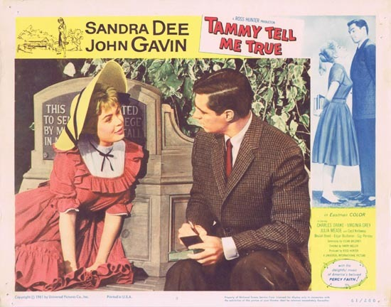 TAMMY TELL ME TRUE 1961 Sandra Dee Lobby Card 8 Bonnet