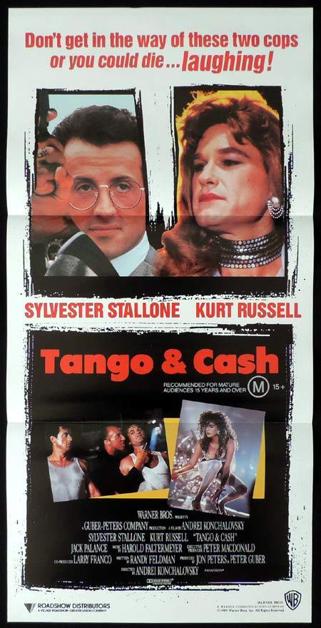 TANGO AND CASH Original daybill Movie poster Sylvester Stallone Kurt Russell