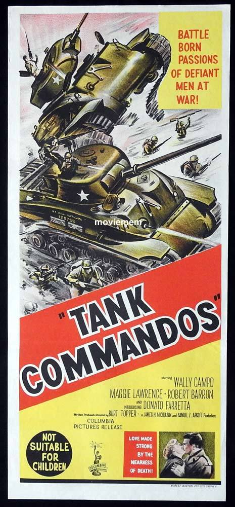 TANK COMMANDOS Original Daybill Movie Poster Donato Farretta Robert Barron