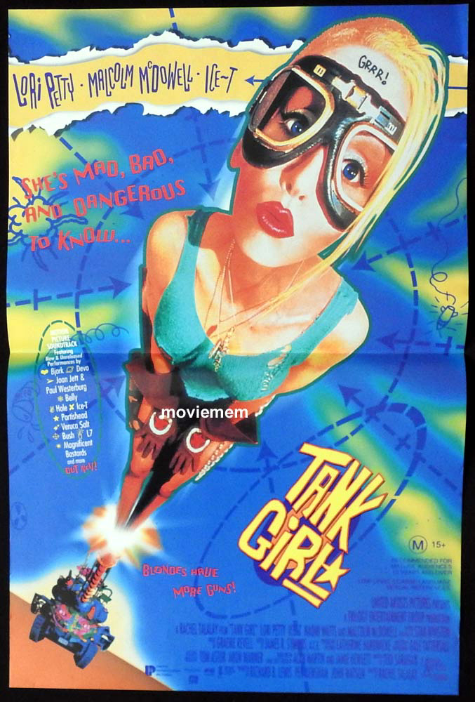 TANK GIRL Original Daybill Movie Poster Lori Petty Ice T Naomi Watts