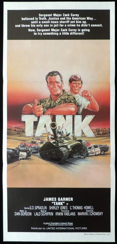 TANK Daybill Movie Poster James Garner C. Thomas Howell