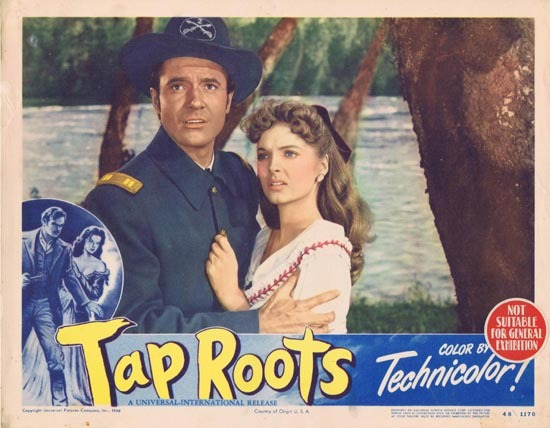 TAP ROOTS 1948 Movie Lobby Card 2 Susan Hayward Van Heflin