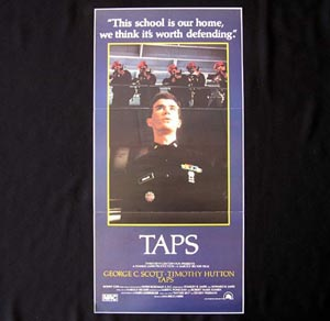 TAPS Daybill Movie Poster 1981 Timothy Hutton Tom Cruise Military School