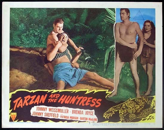 TARZAN AND THE HUNTRESS 1947 Johnny Weissmuller RARE Lobby card 3