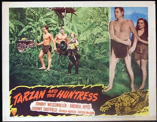 TARZAN AND THE HUNTRESS 1947 Johnny Weissmuller RARE Lobby card 5