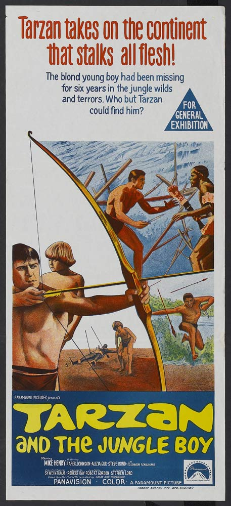 TARZAN AND THE JUNGLE BOY Mike Henry VINTAGE Daybill Movie poster